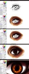 Paint tool SAI- EYE -tutorial by ryky