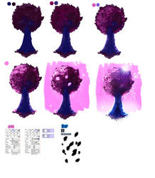 Easy tutorial - Pink Tree by ryky