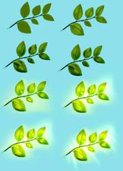 Leaves tutorial by ryky