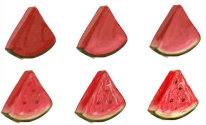 watermelon - step by step by ryky