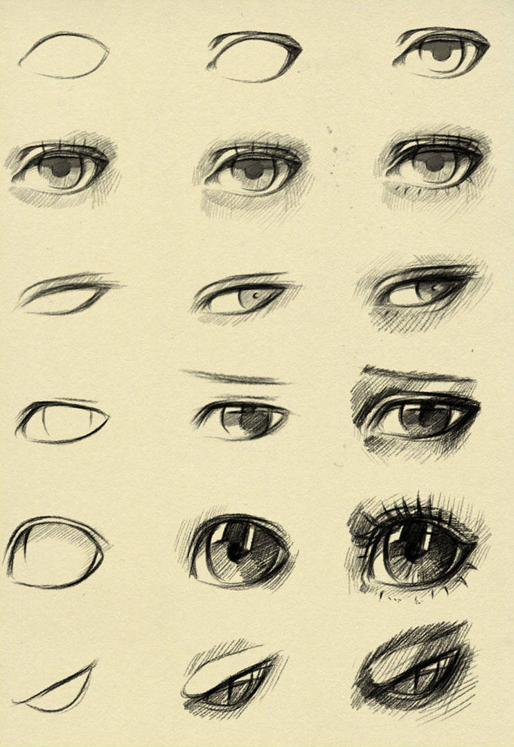 eyes reference by ryky on deviantart