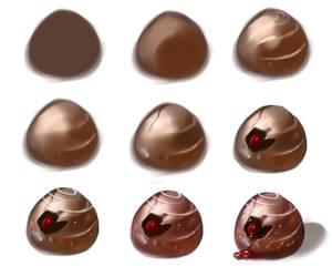 Chocolate- step by step by ryky