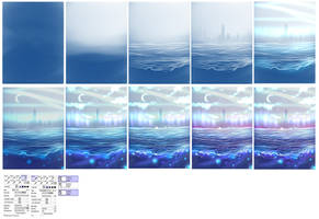 Waterscape step by step by ryky