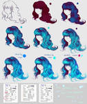 glowing blue hair - easy step by step by ryky