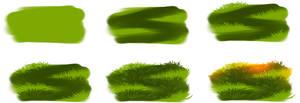 How i draw grass by ryky