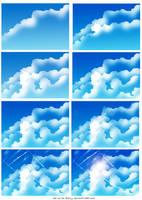 How i draw clouds by ryky