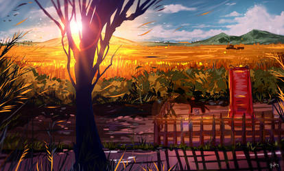 Golden field by ryky