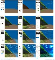 Scenery tutorial in MediBang Paint by ryky