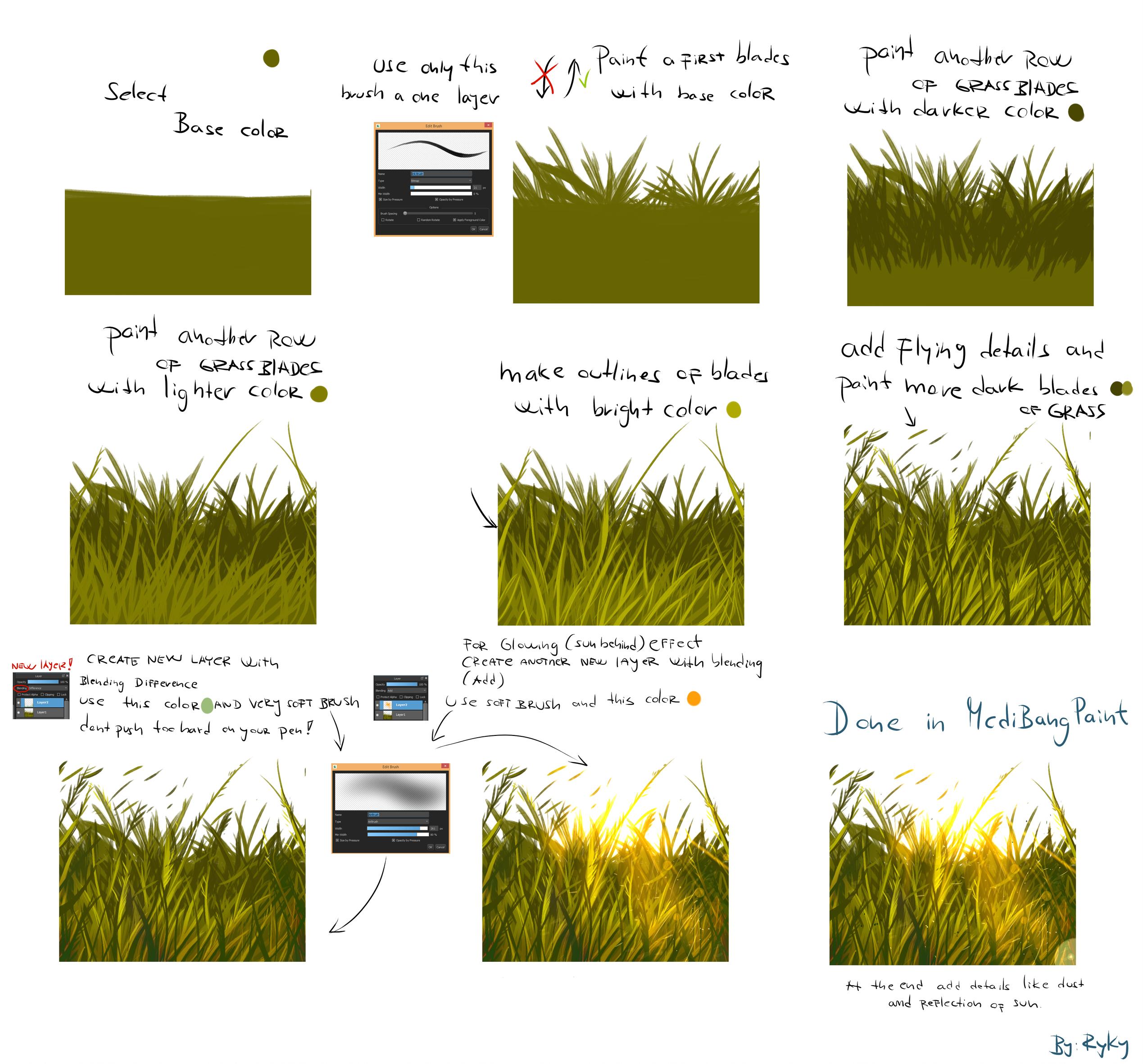 Very easy grass tutorial by ryky