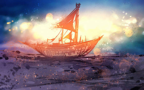 Sand Boat by ryky