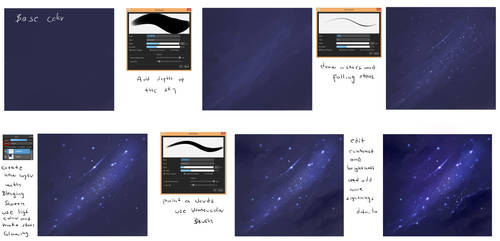 EASY - Night Sky  tutorial by ryky