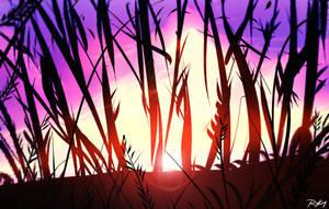 Sunset  (10 min speedpainting ) by ryky