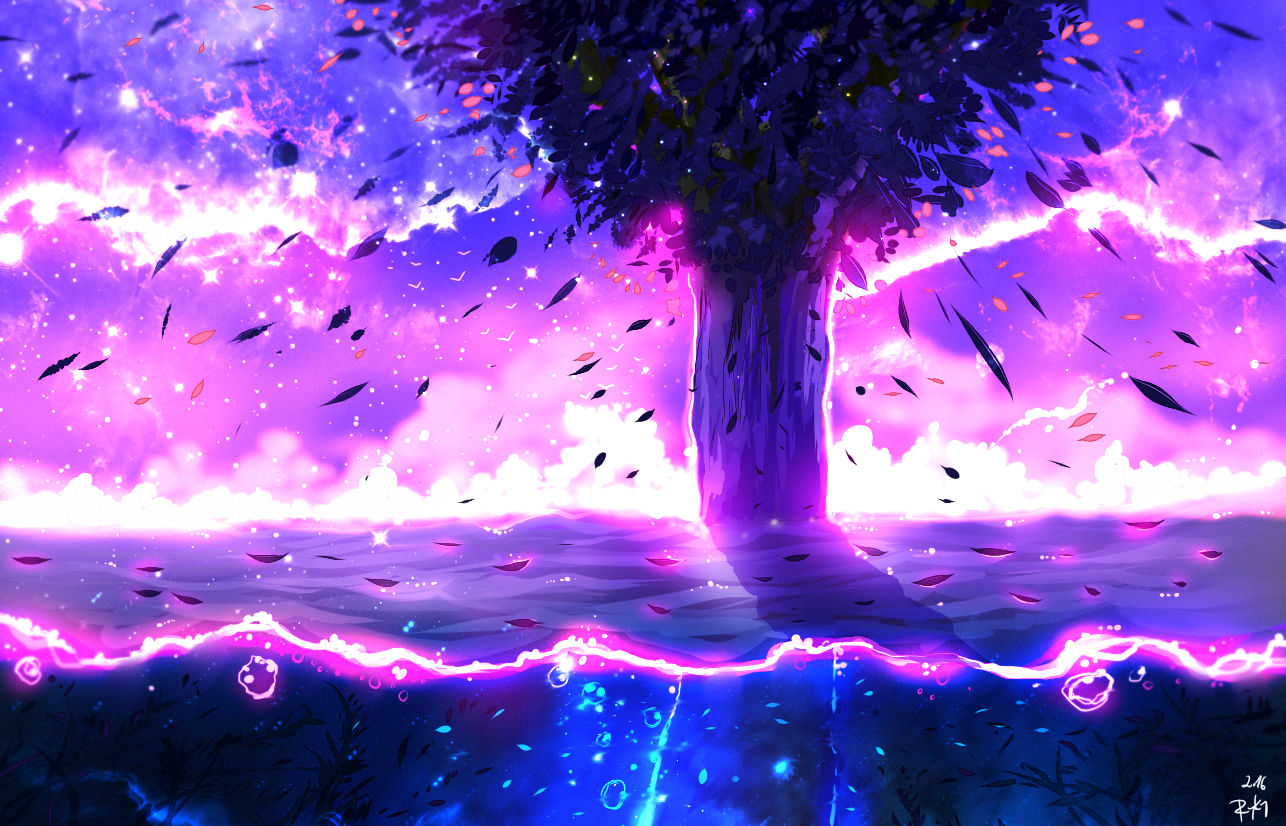 Violet Light by ryky