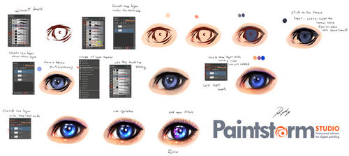How i paint  - Eye - tutorial by ryky