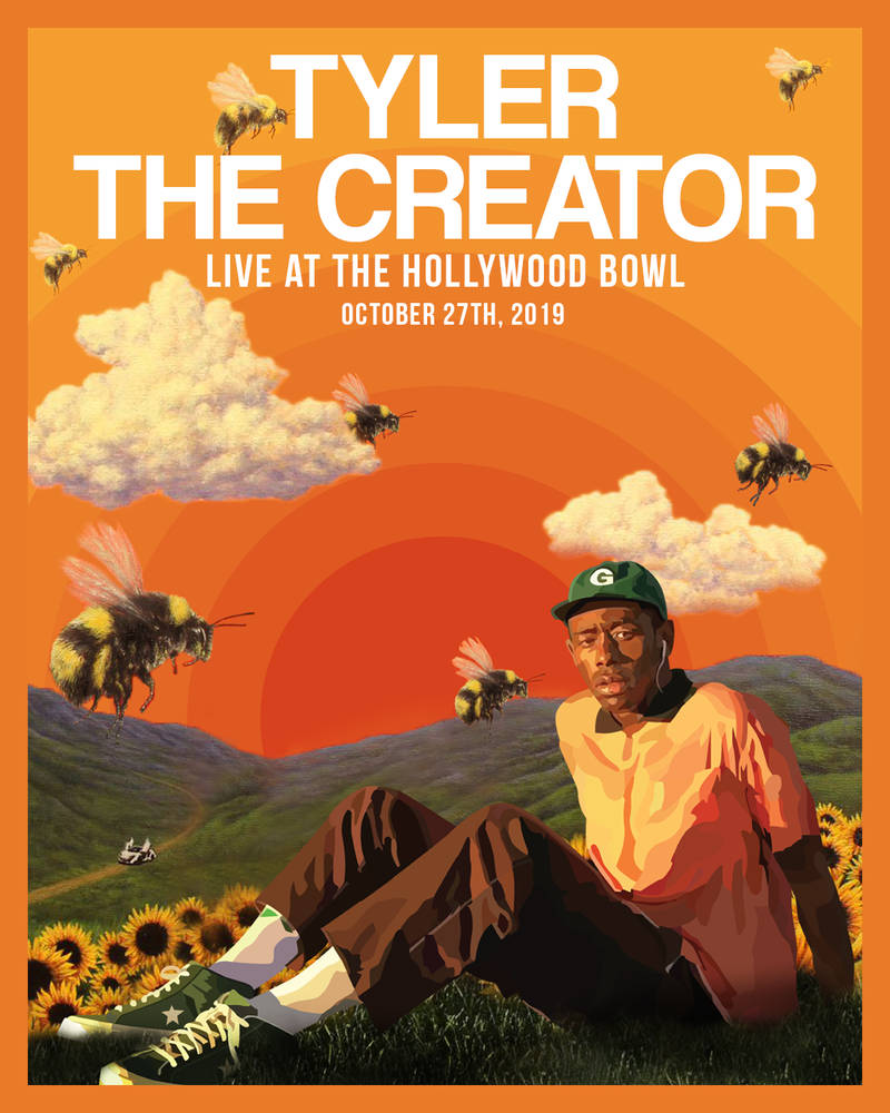 tyler the creator concert poster by itsmcflypants on deviantart