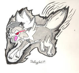 Lycanroc power up inktober by Phillyphil89