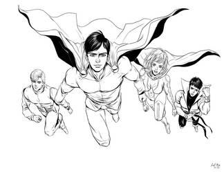 Legion of Superheroes by pink-KILLER
