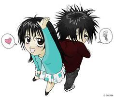 Yu-chan and Mi-chan by pink-KILLER