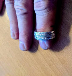 I just finished working on this silver ring. by Mats-Eriksson