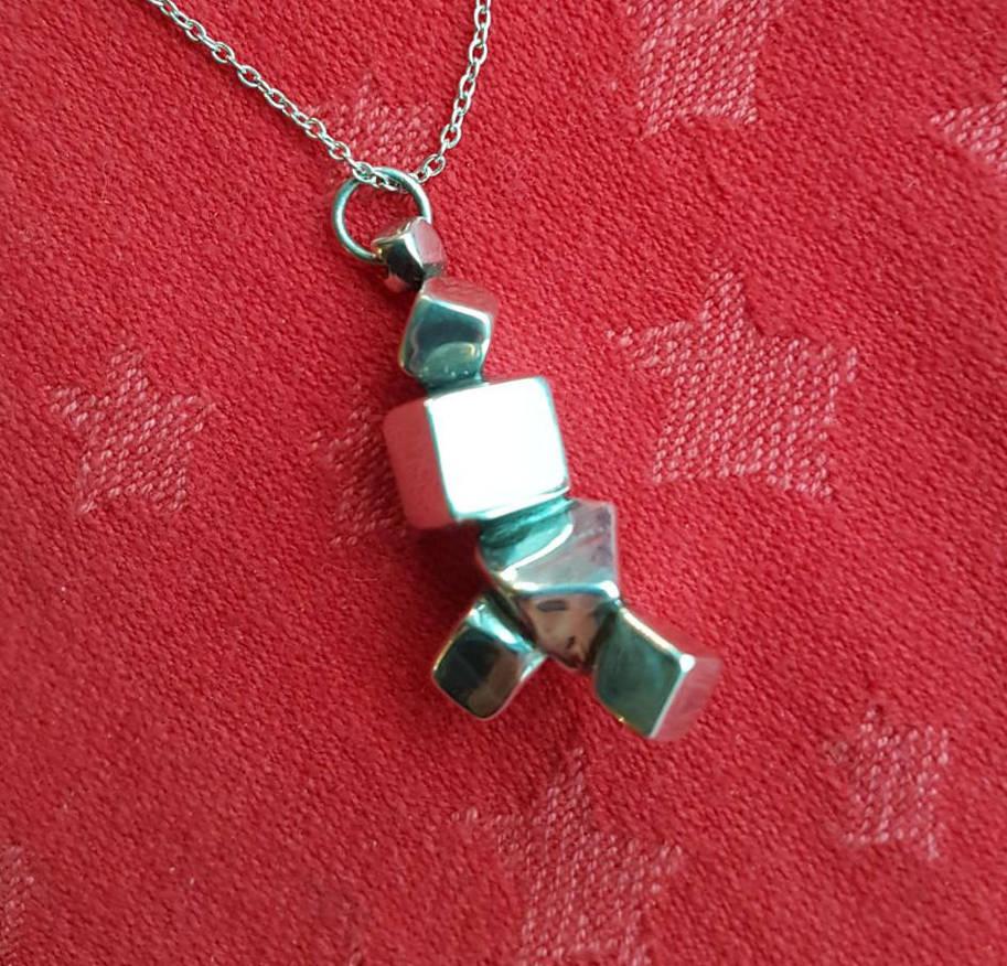 Silver pendant by Mats-Eriksson