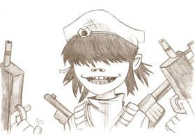 Rhinestone Eyes -Cyborg Noodle by slivkowa