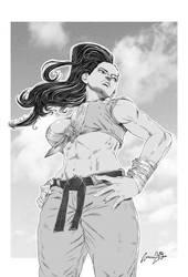 Laura Matsuda Street fighter V by viniciusmt2007