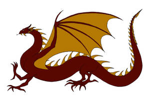Red and Gold Wyrm by Jakegothicsnake
