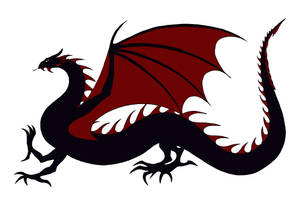 Black and Red Wyrm(Balerion/Drogon) by Jakegothicsnake