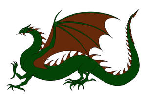 Green and Bronze Wyrm(Rhaegal) by Jakegothicsnake