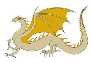 Cream and Gold Wyrm(Viserion) by Jakegothicsnake