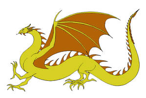 Yellow Wyrm by Jakegothicsnake