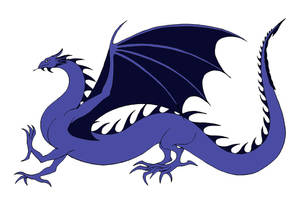 Blue Wyrm by Jakegothicsnake