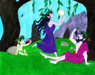 A Family of Maenads by Jakegothicsnake