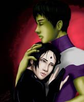 Raven and Beastboy: Safe by BlueFoxJutsu
