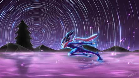 Circling stars, Go Greninja! by R-nowong