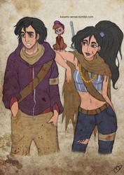 The Walking Disney : Aladin, Jasmine and Abu by Kasami-Sensei