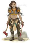 Free Warrior by Kasami-Sensei