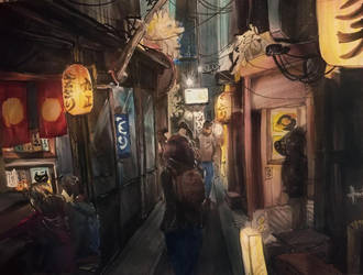 Kyoto Alley by Lushminda