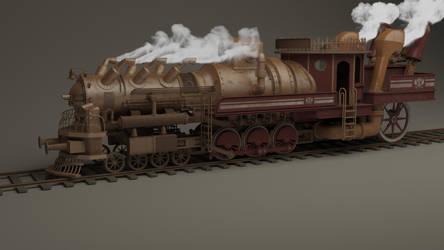 Steampunk train by HannesDreyer