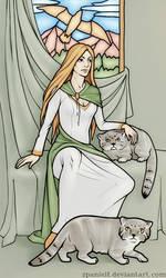Freyja with manuls by spanielf