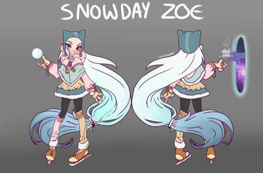 Snow Day Zoe by ThirtyCrustaceans