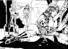 Wonder woman and chetaah's feet by ReneMicheletti