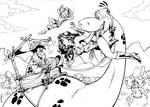 Wonder woman and Fred Flintstone by ReneMicheletti