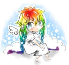 rainbow angel by eniarewa
