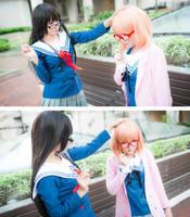 Kyoukai no Kanata - Mirai-chan being a good girl by meipikachu