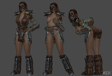 Aela the Huntress - face rigged and more! by Marcelievsky
