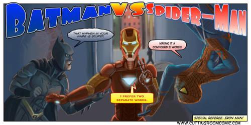 Batman Vs. Spider-Man by CuttingRoom