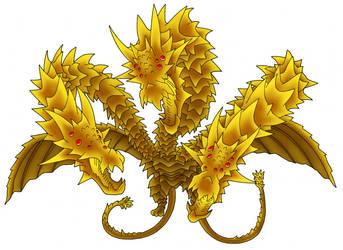King Ghidorah by benisuke