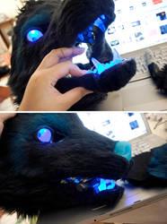 Starwolf: LED eyes and jawset by yeep-yeep
