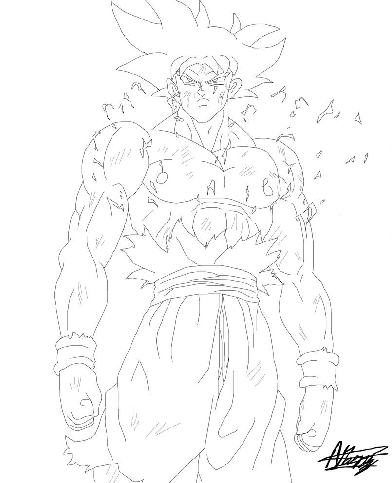 Ultra Instinct Free Coloring Pages